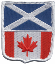 Scotland & Canada Friendship Flag Embroidered Patch A247